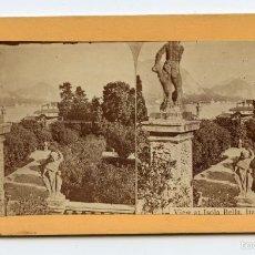 Fotografía antigua: ESTEREOSCÓPICA. ISOLA BELLA. ITALIA SERIES EUROPEAN. EUROPEAN SERIES. Lote 59763500