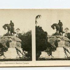 Fotografía antigua: ESTEREOSCÓPICA FOTOMECÁNICA. MADRID, MONUMENTO A MARTÍNEZ CAMPOS A. MARTÍN EDITOR, BARCELONA.. Lote 59967167
