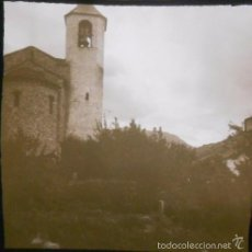 Fotografia antica: VALENCIA DE ANEO ( LERIDA - LLEIDA) FOTOGRAFIA CRISTAL ESTEREOSCOPICA F. PORCAR. 130X59 MM. Lote 60282503