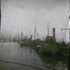 Fotografía antigua: LOTE 3 FOTOGRAFIAS CRISTAL ESTEREOSCOPICAS MALAGA: LA CALETA Y EL PUERTO.HACIA 1913. Lote 60419107