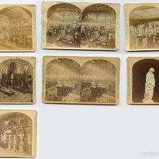 Fotografía antigua: EXPOSICIÓN UNIVERSAL FILADELFIA 1876. LOTE DE 8 ESTEREOSCÓPICAS. Lote 60455907
