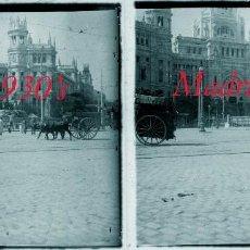 Fotografía antigua: MADRID - CIBELES - 1930'S - 2 POSITIVOS DE VIDRIO . Lote 60916499