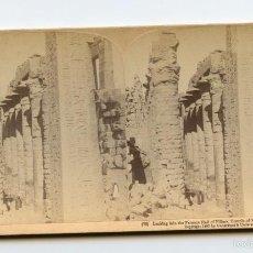 Fotografía antigua: TEMPLO DE KARNAK, EGIPTO. UNDERWOOD & UNDERWOOD, PUBLISHERS. NEW YORK, LONDON, TORONTO-CANADA, OTT. Lote 61120019