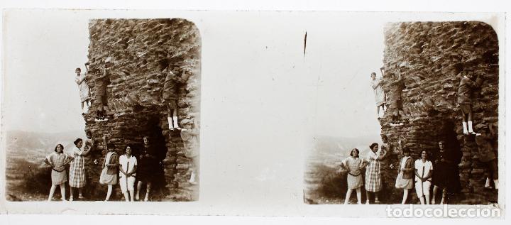 CATALUÑA LOCALIZACIÓN DESCONOCIDA, 1910 APROX. CRISTAL POSITIVO ESTREO 4X10CM. (Fotografía Antigua - Estereoscópicas)