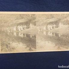 Fotografia antica: FOTO ESTEREOSCOPICA CANTERAS MARMOL DE SAN ADRIÁN PORTUGAL S XIX 8,3X17,6CMS. Lote 61850516