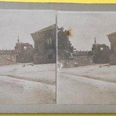 Fotografía antigua: CAMBADOS PONTEVEDRA IGLESIA NEOCLASICA SAN BENITO FEFINANS S XIX ESTEREOSCOPICA ALBUMINA. Lote 61968124