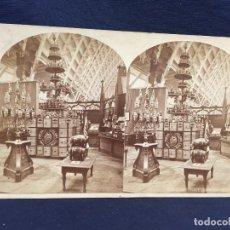 Fotografía antigua: FOTO ESTEREOSCOPICA EXPOSICIÓN INTERNACIONAL PHILADELPHIA SECCION PRODUCTOS ESPAÑOLES ESPAÑA PORCAR. Lote 62012044
