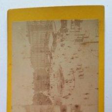 Fotografía antigua: CIRCA 1863 * PUERTA DEL SOL DE MADRID POR ERNEST LAMY JUSTO DESPUES DE LA REFORMA. Lote 62173868