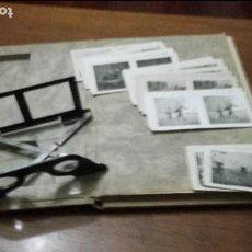 Fotografía antigua: LIBRO / ÁLBUM CON 100 FOTOGRAFÍAS ESTEREOSCÓPICAS DE LA SEGUNDA GUERRA MUNDIAL. Lote 66056342
