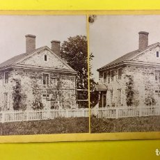 Fotografía antigua: ESTEREOSCOPICA WASHINGTON HEAD QUARTERS AT VALLEY FORGE Nº 129 EEUU USA 8,6X17,6CMS. Lote 67612313
