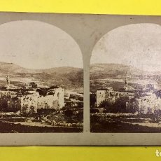 Fotografía antigua: ESTEREOSCOPICA VUES TERRE SAINTE VIEWS HOLLY LAND SEBUSTIEH ANCIENT SAMARIA 7,6X18,6CMS. Lote 67612661