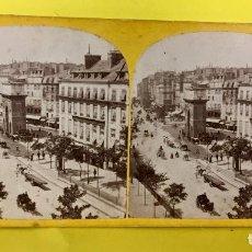 Fotografía antigua: ESTEREOSCOPICA PORTE SAINT MARTIN PARIS INSTANTANEA INSTANTANEOUS FFS S XIX. Lote 67839821