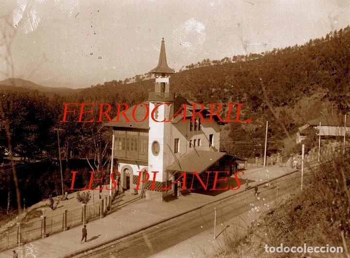 FERROCARRIL - LES PLANES - LAS PLANAS - 1920'S - NEGATIVO DE VIDRIO (Fotografía Antigua - Estereoscópicas)