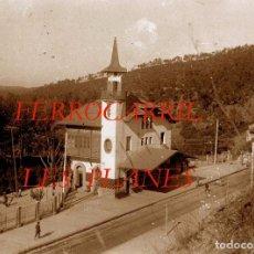 Fotografía antigua: FERROCARRIL - LES PLANES - LAS PLANAS - 1920'S - NEGATIVO DE VIDRIO. Lote 68832473