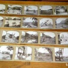 Fotografía antigua: FOTOGRAFÍA ESTEREOSCÓPICA LOTE DE 24 ORIGINALES DE PANAMÁ Y EL CANAL, CA 1908. Lote 69030161
