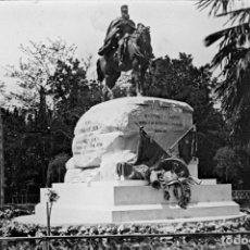 Fotografía antigua: MADRID: FOTOGRAFIA ESTEREOSCOPICA EN CRISTAL. MONUMENTO AL GRAL. MARTINEZ CAMPOS. Lote 69248525