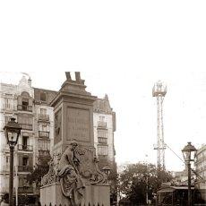 Fotografía antigua: MADRID: FOTOGRAFIA ESTEREOSCOPICA EN CRISTAL. MONUMENTO A BRAVO MURILLO. AÑO 1921. Lote 69252001