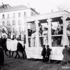 Fotografía antigua: MADRID: FOTOGRAFIA ESTEREOSCOPICA EN CRISTAL. CABALGATA. P/ GREGORIO MARAÑÓN. HACIA 1920.. Lote 70361157
