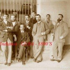 Fotografía antigua: INDIANOS - CUBA - 1890'S - NEGATIVO DE VIDRIO DE GRAN FORMATO . Lote 71495043