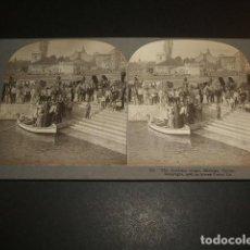 Fotografía antigua: MALAGA 6 VISTAS ESTEREOSCOPICAS COLECCION STEREO TRAVEL 1908. Lote 73714559