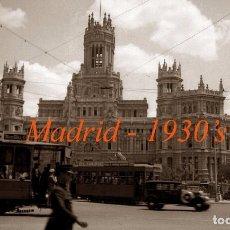 Fotografía antigua: MADRID - PALACIO DE CIBELES - 1930'S - NEGATIVO DE CELULOIDE . Lote 74197435