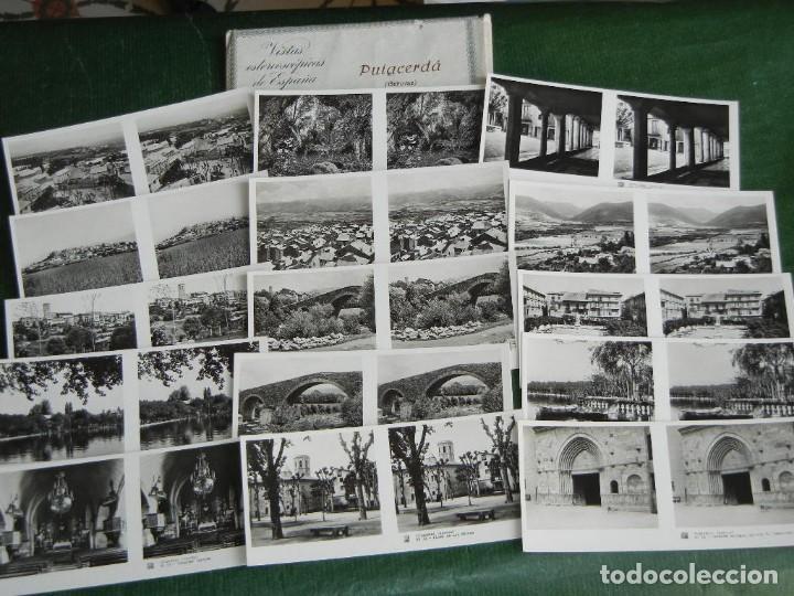 PUIGCERDA COLECCIÓN COMPLETA DE 15 VISTAS Nº73 - RELLEV VISTAS ESTEREOSCÓPICAS DE ESPAÑA (Fotografía Antigua - Estereoscópicas)