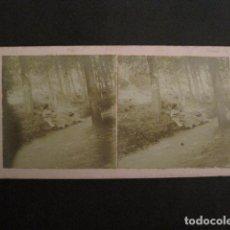 Fotografía antigua: RIBAS - CAMI DE LA FONT TERMAL - FOTO ANTIGUA ESTEREOSCOPICA - (V-9578). Lote 79162729