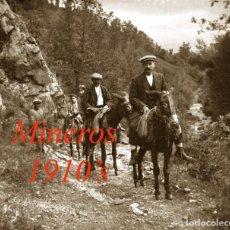 Fotografía antigua: MINEROS - CATALUÑA - 1910'S - NEGATIVO DE VIDRIO . Lote 80815559