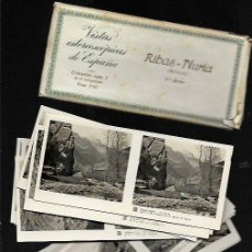 Fotografía antigua: 15 VISTAS ESTEREOSCÓPICAS * RIBES DE FRESSER - NÚRIA * (1 ª SERIE COMPLETA ) . Lote 82186788
