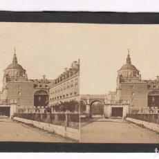 Fotografía antigua: Nº161 PALACIO DEL INFANTE, ARANJUEZ, FOTO EUGÈNE SEVAISTRE PARA GAUDIN ED. ALBÚMINA 9X17CM 1857-60. Lote 83331188