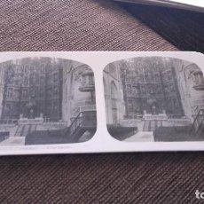Fotografía antigua: FOTOGRAFIA ESTEREOSCOPICA - BURGOS CATEDRAL , ALTAR MAYOR -AÑOS 20 DEL SIGLO XX . Lote 83478520