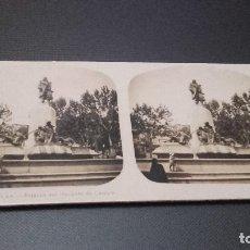 Fotografía antigua: FOTOGRAFIA ESTEREOSCOPICA - VALENCIA. ESTATUA DEL MARQUES DE CAMPO -AÑO 20 DEL SIGLO XX . Lote 83565940