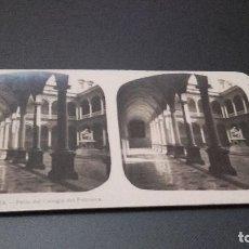 Fotografía antigua: FOTOGRAFIA ESTEREOSCOPICA - VALENCIA. PATIO DEL COLEGIO DEL PATRIARCA -AÑO 20 DEL SIGLO XX . Lote 83566680
