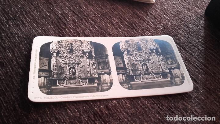 FOTOGRAFIA ESTEREOSCOPICA - TOLEDO. . CATEDRAL. TRANSPARENTE DEL ALTAR MAYOR -AÑO 20 DEL SIGLO XX (Fotografía Antigua - Estereoscópicas)
