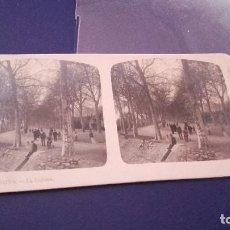 Fotografía antigua: FOTOGRAFIA ESTEREOSCOPICA - GERONA. LA DEHESA -AÑO 20 DEL SIGLO XX. Lote 83823284