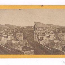 Fotografía antigua: GRANADA, VISTA ESTEREO 9X18 CM. 1857-63 APROX. Lote 84199376