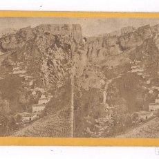 Fotografía antigua: RONDA, PROVINCIA DE MÁLAGA, 1857-63 APROX. FOTO ESTEREO 9X18CM. Lote 84199512