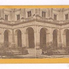 Fotografía antigua: SAN SEBASTIÁN, PALACIO DE LA CONSTITUCIÓN, 1857-63 APROX. ALBÚMINA ESTEREO 9X18CM.. Lote 84288708