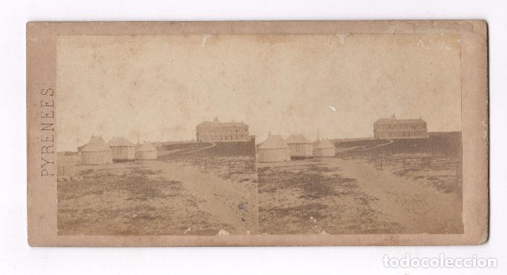 BIARRITZ, RUINAS DE LA EMPERATRIZ. 9X18 CM (Fotografía Antigua - Estereoscópicas)