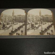 Fotografía antigua: SEVILLA CATEDRAL Y PLAZA DE LA CONSTITUCION VISTA ESTEREOSCOPICA 1908 STEREOTRAVEL CO.. Lote 86837848