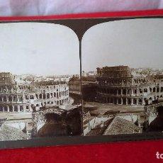 Fotografía antigua: ANTIGUA FOTOGRAFÍA ESTEREOSCÓPICA COLISEO DE ROMA.. Lote 87592812