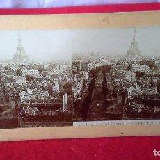 Fotografía antigua: ANTIGUA FOTOGRAFÍA ESTEREOSCÓPICA SOBRE CARTÓN. PARIS. Lote 87595084