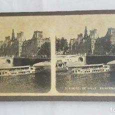 Fotografía antigua: F 2630 ESTEREOSCOPICA PARIS HOTEL DE VILLE - ENSEMBLE PARIS 570 - COLLECTION PHOTO-STEREO. Lote 87653312