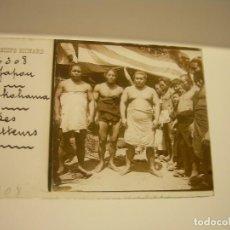 Fotografía antigua: CRISTAL ESTEREOSCOPICO..TAXIPHOTE. J.RICHARD.PARIS....LUCHADORES JAPONESES CA 1910. Lote 88876264