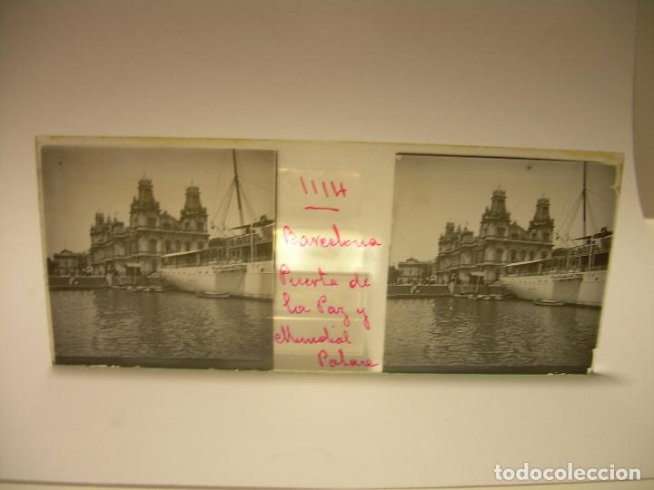 Fotografía antigua: INTERESANTE CRISTALES ESTEREOSCOPICOS....BUQUES BARCOS PUERTO DE BARCELONA.....TOTAL 13 UDS. CA 1909 - Foto 7 - 88919348