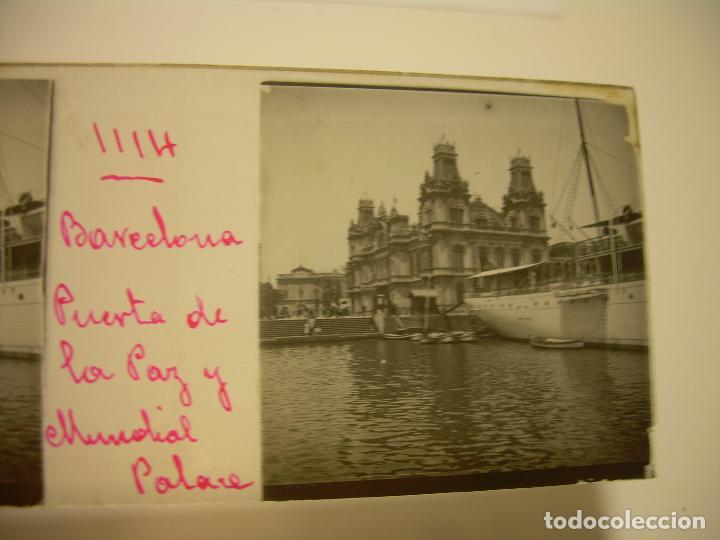 Fotografía antigua: INTERESANTE CRISTALES ESTEREOSCOPICOS....BUQUES BARCOS PUERTO DE BARCELONA.....TOTAL 13 UDS. CA 1909 - Foto 8 - 88919348