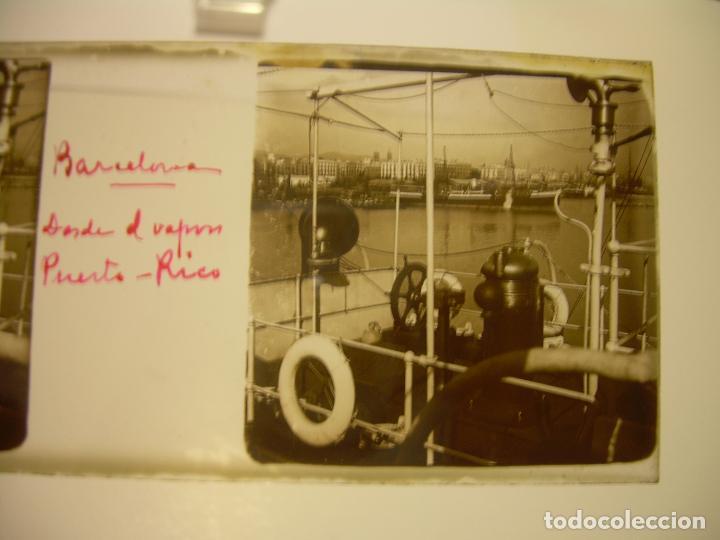 Fotografía antigua: INTERESANTE CRISTALES ESTEREOSCOPICOS....BUQUES BARCOS PUERTO DE BARCELONA.....TOTAL 13 UDS. CA 1909 - Foto 10 - 88919348