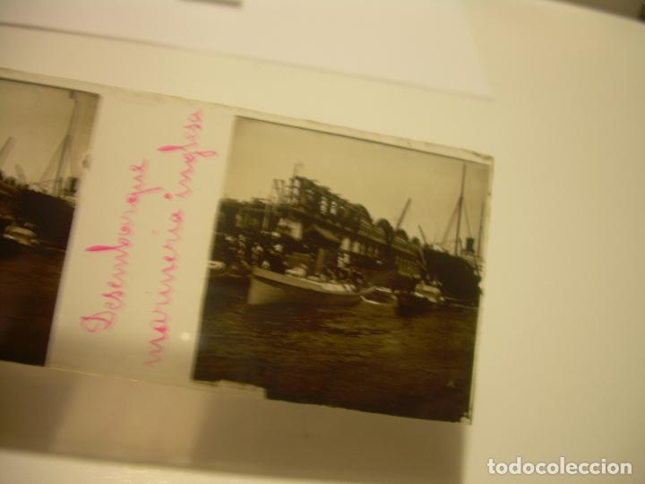 Fotografía antigua: INTERESANTE CRISTALES ESTEREOSCOPICOS....BUQUES BARCOS PUERTO DE BARCELONA.....TOTAL 13 UDS. CA 1909 - Foto 14 - 88919348