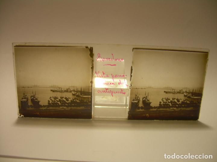 Fotografía antigua: INTERESANTE CRISTALES ESTEREOSCOPICOS....BUQUES BARCOS PUERTO DE BARCELONA.....TOTAL 13 UDS. CA 1909 - Foto 15 - 88919348