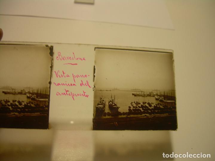 Fotografía antigua: INTERESANTE CRISTALES ESTEREOSCOPICOS....BUQUES BARCOS PUERTO DE BARCELONA.....TOTAL 13 UDS. CA 1909 - Foto 16 - 88919348